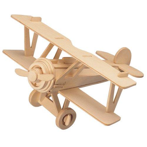 Puzzles & Geduldspiele B 2 3D Holzbausatz Flugzeug Flieger Holz Steckpuzzle Holzpuzzle Kinder Bauen