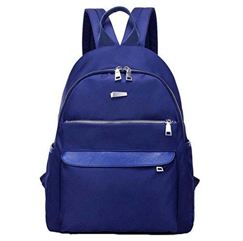 Nylon Tuch Rucksack Weiblichen Einfachen Wasserdichten Oxford Tuch Lässig Schulter Tasche Mittelschule Schüler Rucksack Blue