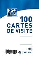 OXFORD 100 Cartes de visite - 12.8 cm x 8.2 cm x 2.8 cm - Blanc 100 Cartes de visite - 12,8 cm x 8,2 cm x 2,8 cm - Blanc