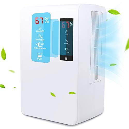Mpow Deumidificatore Semiconduttore Domestico, Rimozione 1200ml/Giorno a 30°C, 80%RH, 3L Capacità Serbatoio d'Acqua, Touch Screen, Umidità Controllabile, Modalità Silenziosa