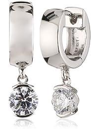 Esprit Damen-Creolen 925 Sterling Silber rhodiniert Zirkonia ESCO91744A000