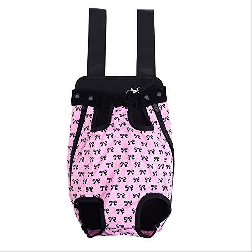 JBPX Tierträger Mode Hund Katze Haustier Hund Welpe Carry Front Carrier Outdoor Rucksack Tasche Mit Niedlichen Bowknot Muster Haustier M Pink -