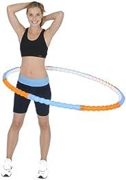 Health New Body Fitnessklein apparaat New Body Health 1,1 kg Hula Hoop banden met massagenoppen, blauw/oranje, 107 cm
