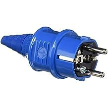 Mennekes 101700014 Clavijas Schuko 16 A / 230 V, Tomas de Corriente, IP 44 Grado de Protección, Azul