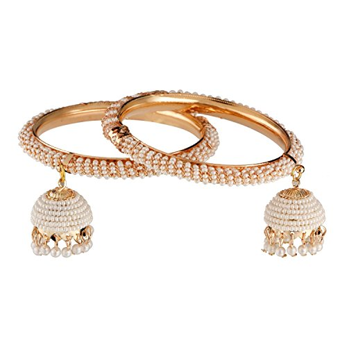 Radient Gold Tone Indian Women Wedding Party Hinged Bangle Set Traditional Jewellery 2*6 Durable In Use Jewelry & Watches