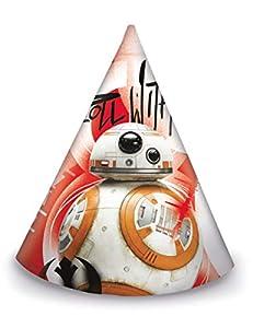 Juego de 6 sombreros de fiesta Star Wars 8 Los Últimos Jedi, multicolor, PR86621