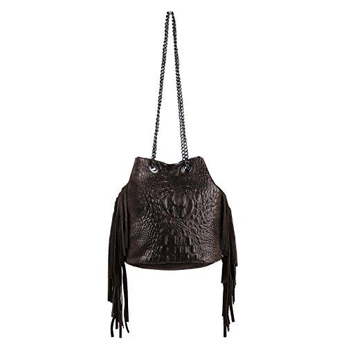 OBC Only-Beautiful-Couture, Poschette giorno donna Marrone Dunkelbraun/Moro 26x22x15 cm (BxHxT) Dunkelbraun/Moro