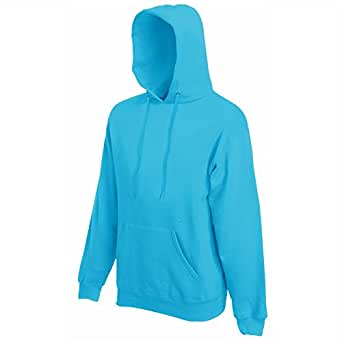 Fruit Of The Loom Hooded Sweatshirt Colour=Azure Blue Size=S