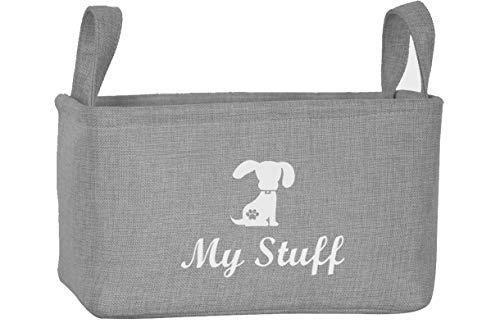 Morezi Aufbewahrungsbehälter für Haustier-Spielzeug und Zubehör, aus Leinen, ideal für die Organisation von Haustier-Spielzeug, Decken, Leinen und Futter -