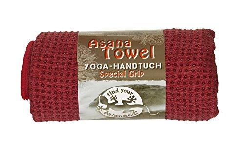 Asana Towel Yoga - Handtuch Premium, 183 x 61 cm Anti-Rutschnoppen Mikrofaser aus 80% Polyester, 20% Polyamide/Nylon und Siliconnoppen Separat...