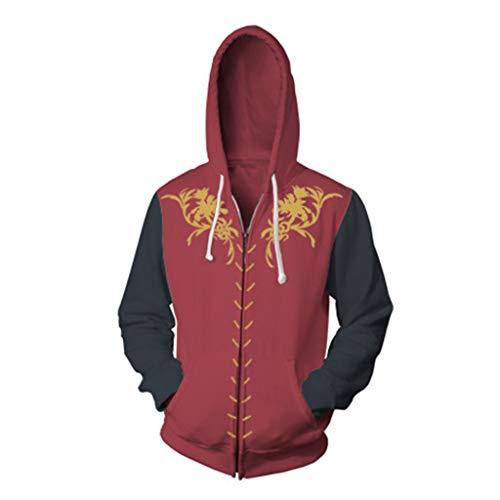 Henxizucun Game of Thrones Hoodie Cosplay Kostüm Teens Anime Reißverschluss Baumwolle Jacke Sweatshirt Kleidung Top für Männer & Frauen,A,XL