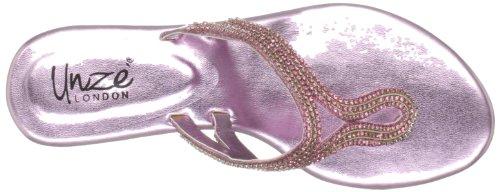 Unze Evening Sandals, Sandali infradito donna Rosa (Pink (L18393W))