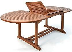 Deuba Gartentisch Vanamo FSC®-zertifiziertes Eukalyptusholz ausziehbar 200x100cm Tisch Gartenmöbel Garten Terrasse