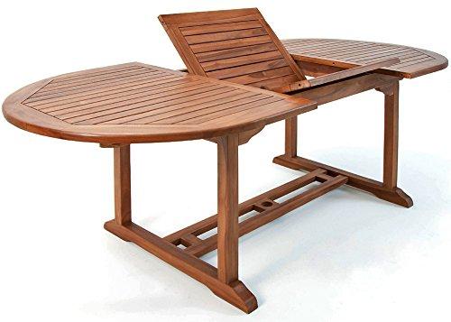 Deuba Gartentisch Vanamo | FSC®-zertifiziertes Eukalyptusholz ausziehbar 200x100cm | Tisch Gartenmöbel Garten Terrasse