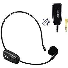 EASJOY 2.4G micrófono inalámbrico, la transmisión inalámbrica estable 40m, auriculares y de mano
