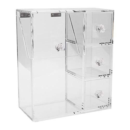 Aufbewahrungsbox für Make-up-Werkzeuge, transparente Acryl-Wattestäbchenbürste Aufbewahrungsbox für Make-up-Werkzeuge Organizer