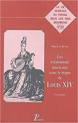 Les événements musicaux sous le règne de louis XIV : Chronologie