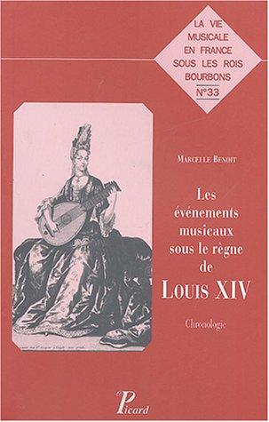 Les vnements musicaux sous le rgne de louis XIV : Chronologie