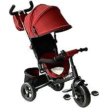 Homcom 3 EN 1 Triciclo para Niños +18 Meses Triciclo con Pedales con Capota Extraíble
