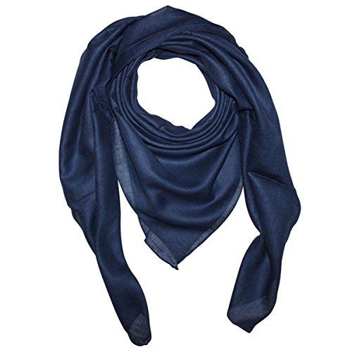 Superfreak Baumwolltuch - Tuch - Schal - 100x100 cm - 100% Baumwolle, Farbe blau-navy