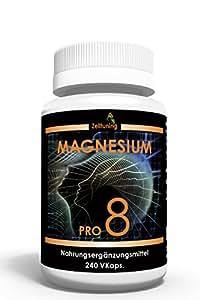 Zelltuning Magnesium Pro 8 - Das 8 fach Hochleistungs-Magnesium - 240 Kapseln im 2 Monatsvorrat - Kleine Kapseln leicht zu schlucken.