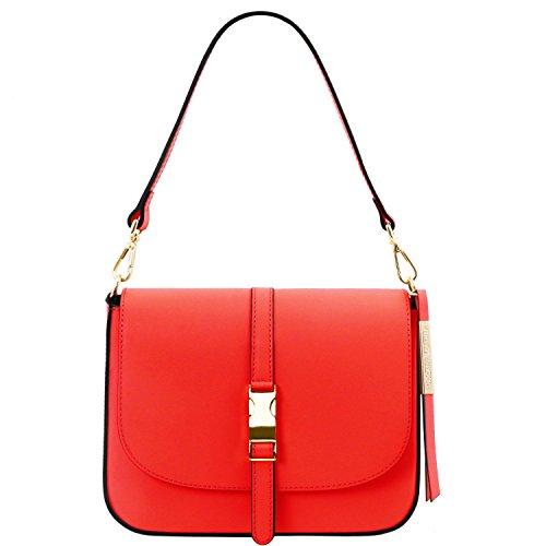 Tuscany Leather Nausica - Borsa a tracolla in pelle Ruga - TL141598 (Rosso) Rosso