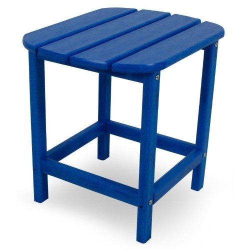 CASA BRUNO Beistelltisch 48x38x46 cm, aus recyceltem Poly-HDPE Kunststoff, ozeanblau - kompromisslos wetterfest