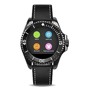 BINLUN Fashion Bluetooth Smartwatches für Jungen und Damen Sync Mobile Support iOS und Android Kamera Schrittzähler Schlaf Monitor
