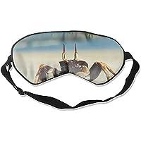 Fashion Ghost Crab Beach Ocypodinae Schlafmaske mit Meereswolken-Aufdruck, super glatt, Seiden-Eyeshade preisvergleich bei billige-tabletten.eu