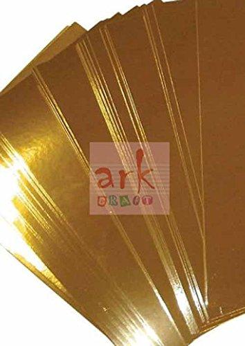 carta lucida 5 fogli a5 color oro a specchio