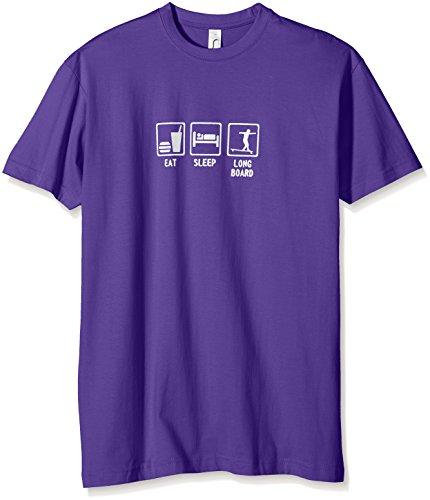 Coole-Fun-T-Shirts Jungen T-Shirt EAT, Sleep, Longboard, Gr. One Size (Herstellergröße: 128cm),...