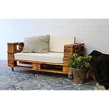 1 x SOFÁ con Ruedas para Interior & Exterior de 3 Plazas - Mueble de Terraza