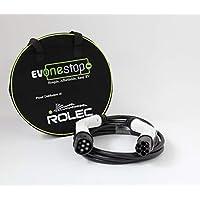 EV OneStop - Cable de Carga para vehículos eléctricos, Sencillo y asequible, Color Blanco y Negro, EVPP0163