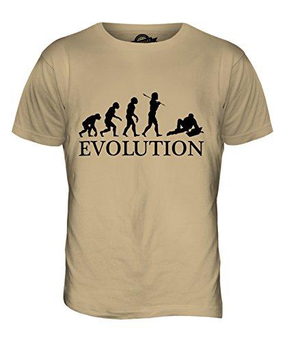 CandyMix Laptop Notebook Evolution Des Menschen Herren T Shirt Sand