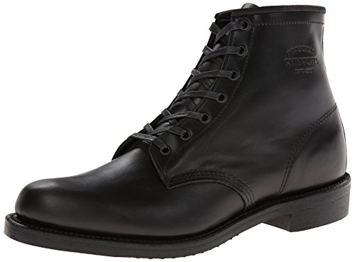 Chippewa Mens 1901M82 Black Leather Boots 43 EU Chippewa Service Stiefel Männer
