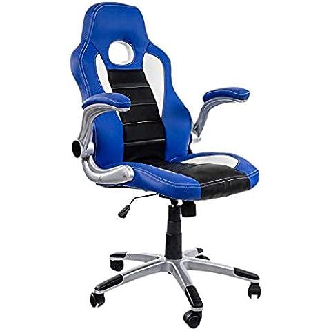 Eurosilla Gaming 3 - Silla de escritorio, 116 x 60 x 62 cm, multicolor