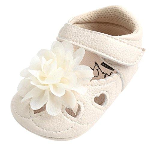 SOMESUN Baby Mädchen Blume Aushöhlen Sandalen Kleinkind Prinzessin Mode Bandage Weich Leder Atmungsaktiv Erster Spaziergang Beiläufig Freizeit Krippe Schuhe (6-12 Monate, Beige) (Jordan-schuhe, Kleinkind, Größe 7)
