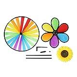 GUBENM Windmühle Spielt Kinder, Garten Dekorations Blumen,Bunte Draußen Spinner