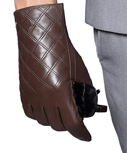 Preisvergleich Produktbild HaiDean Herren Winter Handschuhe Aus Touch Em Screen Leder Modernas Lässig Aus Leder Handschuhe Warm Winter Lederhandschuhe (Color : Braun,  Size : 7.5)