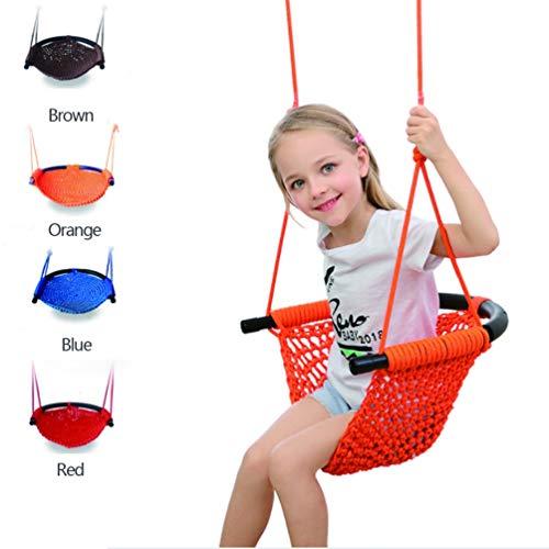 XGYUII Kid Swing Seat Kinderhängesessel für 2-15 Jahre Alten Spielplatz Indoor Out Tür Arden Haushalt mit Swing Straps,Brown