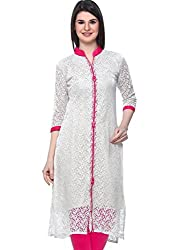 Vatsla Enterprise Women's Cotton Kurti (VKR-51037C_Red_Pink_Free Size)