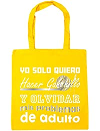 HippoWarehouse Yo Solo Quiero Hacer Ganchillo y Olvidar Mis Problemas de Adulto Bolso de Playa Bolsa