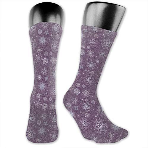 Papalikz Compression Medium Calf Socks,Christmas Themed Floral Arrangement Ornamental Swirls And Curves Winter -