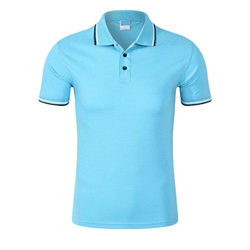 MTTROLI Herren T-Shirt Himmelblau