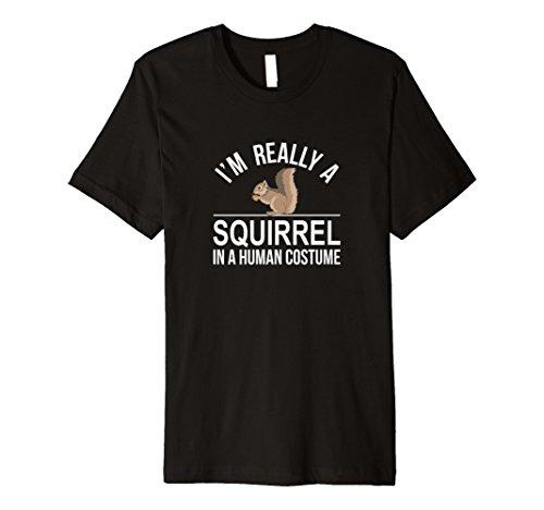 Ich bin wirklich ein Eichhörnchen-in ein Menschliches - Mann Im Kostüm Bin