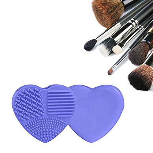 Xiton 1 STÜCK SilikonbüRste Make-Up Pinsel Pinselreiniger Make-Up WaschbüRste HerzföRmige EierbüRste Make-UpbüRste Reinigungsmatte Reinigung Waschwerkzeug SchöNheitspinsel(Helllila)