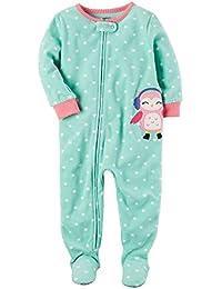 53828fcbe4 Carter's Schlafanzug Fleece 116/122 Einteiler Winter Reißverschluss für  Mädchen Schlafoverall
