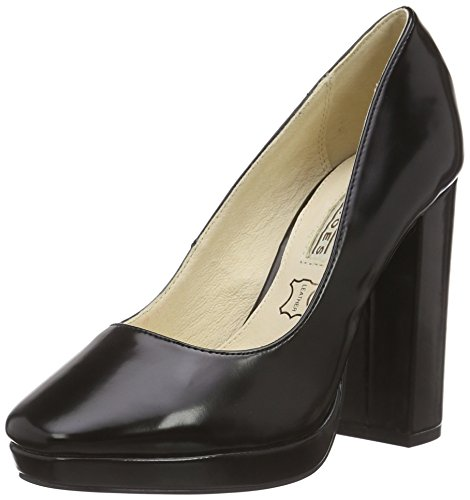 Buffalo 115-1617 Box Pu Damen Pumps Schwarz (Black 01)