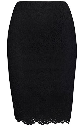 FIND Lace Jupe Femme, Noir (Black), 38 (Taille Fabricant: Small)