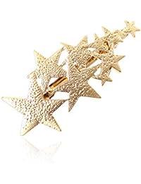 YAZILIND Sencilla Forma de Pentagrama Primavera Grandes Pinzas para el Cabello Horquillas Accesorios Exquisitos Pinzas para el Cabello para Las Mujeres